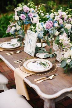 Every inch of this French wedding inspiration shoot is so chic! We are obsessed with the soft lavender and dusty blue color combination — it evokes romance and a lovely elegance that is hard to resist! The reception table setting is perfectly designed with gorgeous florals, pops of gold and elegant calligraphy. The bride's floral […]