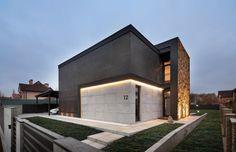 Beautiful House 📍Horenychi, Ukraine Designed by Sergey Makho Minimalist Architecture, Facade Architecture, Facade Design, Exterior Design, Luxury Boat, Facade House, Modern Buildings, Modern House Design, Beautiful Homes