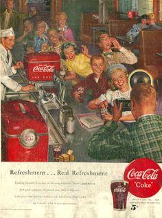 Coca-Cola refreshment... real refreshment 1950