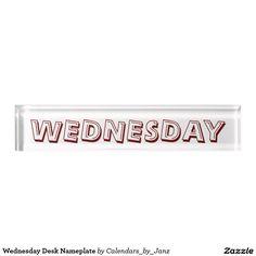 Wednesday Desk Nameplate