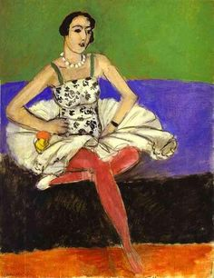 The Ballet Dancer, 1927 by Henri Matisse. Post-Impressionism. portrait. Hermitage, St. Petersburg, Russia