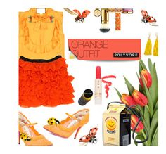 """#749  #orangeoutfit"" by wonderful-paradisaical ❤ liked on Polyvore featuring Gucci, D&G, Moschino, Tory Burch, Paul & Joe, Garance Doré and orangeoutfit"