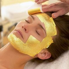 Luxe 24-karat gold foil sheet masks for a ridiculously classy Cleopatra-style facial that WON'T run you a $750 bill. | 26 Products For People Who Like Being Comfy But Are Fancy AF