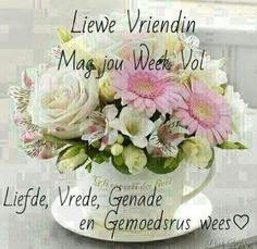 Evening Greetings, Good Morning Greetings, Good Morning Wishes, Good Morning Quotes, Happy Birthday Flower, Happy Birthday Images, Uplifting Christian Quotes, Lekker Dag, Afrikaanse Quotes