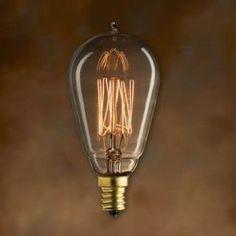 25W Vintage Bulb, Candelabra Base