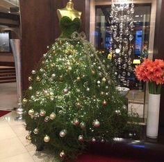 christmas tree dress form