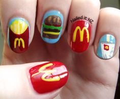 McDonalds Nails - Nail Art Gallery by NAILS Magazine. Super cool...my daughter would freak out over these!