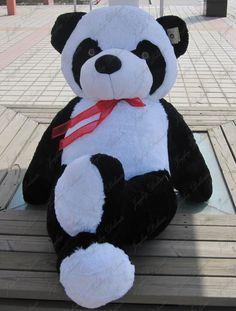 Giant Giant Cute Panda Bear Stuffed Plush Toy Valentine Gift - Go Shop Dolls Big Panda, Niedlicher Panda, Cute Panda, Panda Bears, Big Teddy, Giant Teddy Bear, Cute Teddy Bears, Giant Plush Bear, Costco Bear