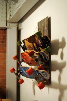 Skateboard Rack by DoerflerDesigns on Etsy, $159.00