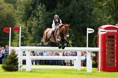 Sinead Halpin and Manoir de Carneville (Tate) at Burghley 2012 where they finished 2nd