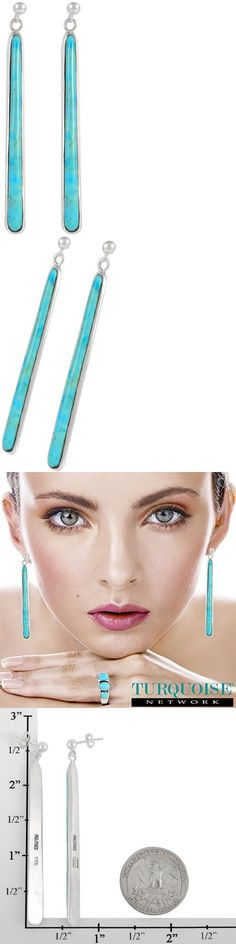Earrings 98497: Turquoise Earrings In Sterling Silver And Genuine Turquoise (2.5 Long) -> BUY IT NOW ONLY: $47.78 on eBay!