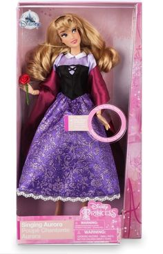 Sleeping Beauty Doll, Aurora Sleeping Beauty, Adult Anna Costume, Fabric Rosette, Golden Hair, Briar Rose, Disney Dolls, Forest Friends, 60th Anniversary