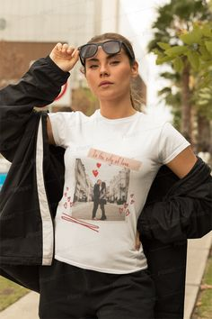 In The City of Love... Classic Tee T Shirts For Women, Clothes For Women, Shirt Ideas, Outfit Ideas, City, Tees, Classic, Outfits, Fashion