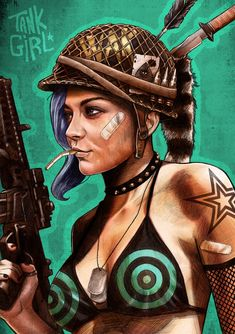 ♣️ ✿ ❀ ❁✿ For more great pins go to Beautiful Fantasy Art, Dark Fantasy Art, Tank Girl Comic, Dibujos Pin Up, Tableau Pop Art, Character Art, Character Design, Smoke Art, Comics Girls