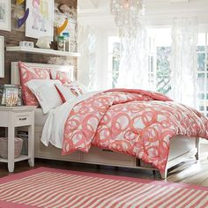Hampton Storage Bed | PBteen for Anna - this has storage in it as well.