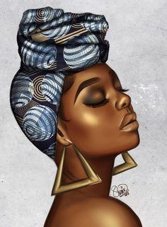 Black Women Art Joy by luxuryzz Black Love Art, Black Girl Art, My Black Is Beautiful, Art Girl, Black Art Painting, Black Artwork, African American Art, African Women, Art Afro Au Naturel
