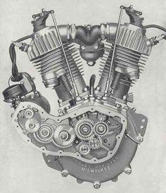 the original stuff V Engine, Motorcycle Engine, Motorcycle Art, Harley Davidson Engines, Harley Davidson Motor, Triumph Motorbikes, Geometric Mandala Tattoo, Bike Cart, Mechanic Shop