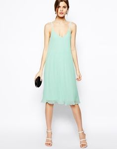 Enlarge ASOS Cami Swing Dress With Pleats