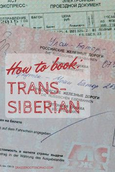 How to Book the Trans-Siberian