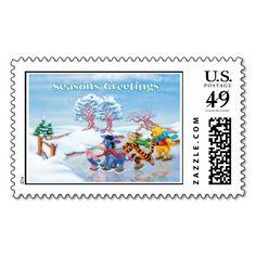 Seasons Greetings from Winnie the Pooh Crew Stamp