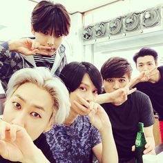 Eunhyuk's IG with Ryeowook, Heechul, Shindong and Donghae