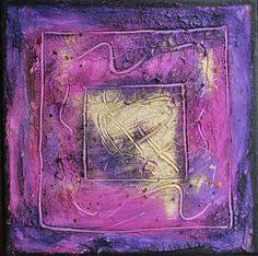 Farbenergiebild Joy / Quadrat Violett Magenta #farbfeldmalerei #rothko #expressionismus #expressionism #abstrakt #abstract #art #kunst #modern #leinwand #canvas #painting #artwork #painting #gemälde #fineart