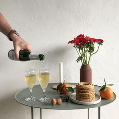Christmas styling with Brut Table. Styling and photograph by Marianne Jacobsen for Skagerak.