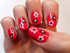The Nail Design Spring - 50 Cool Ideas for Manicure in C . Pedicure Nail Designs, Gel Nail Art Designs, Simple Nail Art Designs, Fall Nail Designs, Manicure Ideas, Cute Red Nails, Cute Nail Art, Blue Nails, Gel Nail Tips