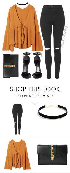 """Untitled #956"" by fashionista2704 on Polyvore featuring Topshop, LULUS, Gucci and Alexander McQueen"