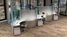 Modern Office Cubicles   Office Workstation Cubicles Contemporary Office Chairs, Modern Office Design, Office Furniture Design, Office Cubicles, Office Workstations, Wood House Design, Creative Office Space, Commercial Office Space, Office Interiors