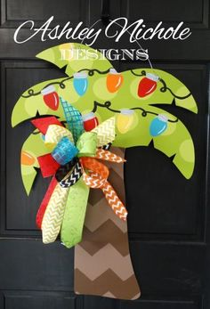 """Deck out your beach or lake house with this oh so cute wooden palm tree. This item makes a great decoration or gift also. Can be used indoors or outdoors. Made using ¼"""" plywood with a painted back for a more polished look.32"""" tall x 24"""" wide"""
