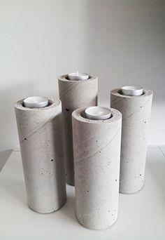 """Kerzenhaltern für Teelichter """"BETON"""" von Z-Line-Design auf DaWanda.com"""
