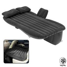 VaygWay Inflatable Car Air Mattress - Air Bed with Pump Kit - Back Seat Travel Air Mattress - Camping Vacation Blow up Bed - Sleeping Pad with 2 Pillows - Universal Car SUV Truck Fit Car Tent, Truck Tent, Camping Mattress, Air Mattress, Pillow Mattress, Inflatable Car Bed, Portable Air Pump, Blow Up Beds, Minivan Camping