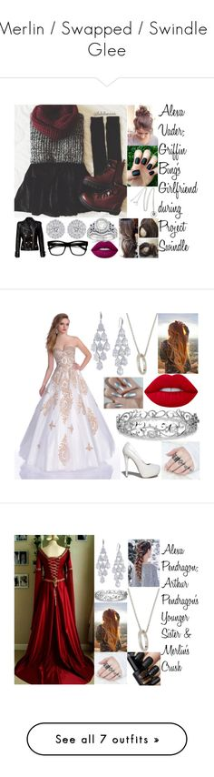 """""""Merlin / Swapped / Swindle / Glee"""" by alexaroutledge ❤ liked on Polyvore featuring Vicky Davies, Dr. Martens, Allurez, Lime Crime, Balmain, ZeroUV, Envious Couture, Qupid, Monica Rich Kosann and Effy Jewelry"""