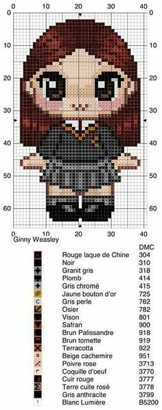 New embroidery patterns harry potter design Ideas Harry Potter Cross Stitch Pattern, Counted Cross Stitch Patterns, Cross Stitch Charts, Cross Stitch Embroidery, Embroidery Patterns, Blackwork, Ginny Weasley, Harry Potter Crochet, Modele Pixel Art