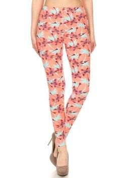 496a8c23eaabc Our beautiful Brushed Peach Palm Tree Leggings are the perfect spring and summer  leggings! With