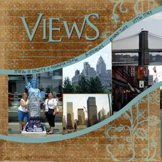 #papercraft #scrapbook #layout Awesome City Views Page...love this!
