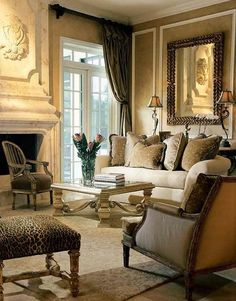 Formal and traditional living room.