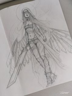 Angel sketch by sashajoe.deviantart.com on @DeviantArt