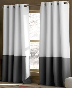 CHF Kendall 52 x 120 Panel - Curtains & Drapes - for the home - Macy's Window Panels, Window Coverings, Window Treatments, Enchanted Home, Custom Drapes, White Paneling, Panelling, House Windows, Space Furniture