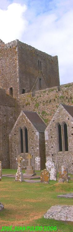 Building of the choral vicars of the Rock of Cashel   To the left, the building of vicars, added in the fifteenth century.