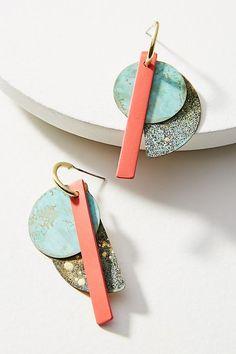 Slide View: 1: Good Fortune Petite Linear Drop Earrings