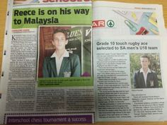 Hi all Family & Friends as most of you's know and have seen in the local papers – Reece my nephew is off to Malaysia, he's been chosen for SA Touch Rugby to play in the World Cup. We are all very proud of him and he deserves this as he is so Talented and has has a passion for rugby since he was 5 years old. We have to raise R50 000 in order for him to go, plus all costs involved for training as he has to fly to Cape Town soon for a training camp. We unfortunately don't have this kind of m...