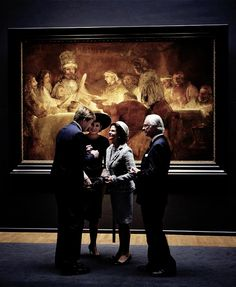 King Carl Gustaf and Queen Silvia of Sweden visited the Rijksmuseum in Amsterdam with King Willem-Alexander and Queen Maxima of The Netherlands