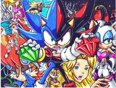 sonic and shadow WHO WE PROTECT CL by trunks24.deviantart.com on @deviantART