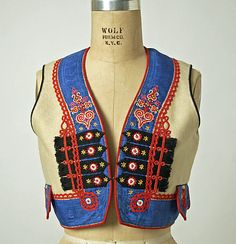 Czech ensemble 1800 -1939. Vest detail.