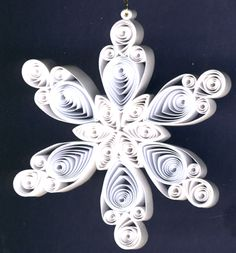Quilled Christmas Ornament Snowflake Pink Center Images Pictures
