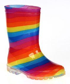 Rainbow Doorstop Rain Boot