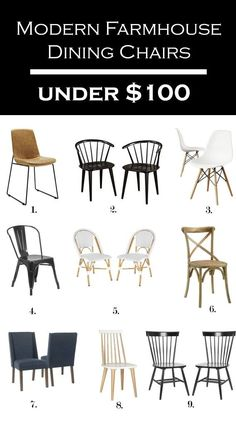modern farmhouse dining chairs on the cheap Cheap Dining Chairs, Mismatched Dining Chairs, Black Dining Chairs, Shabby Chic Table And Chairs, Industrial Dining Chairs, Farmhouse Dining Chairs, Modern Dining Chairs, Bar Chairs, Dinning Table
