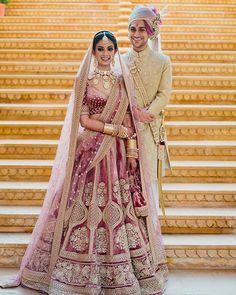 Indian Bridal Outfits, Indian Bridal Lehenga, Bridal Dresses, Indian Dresses, Indian Bridesmaids, Indian Bride And Groom, Bride Groom, Designer Bridal Lehenga, Lehenga Designs
